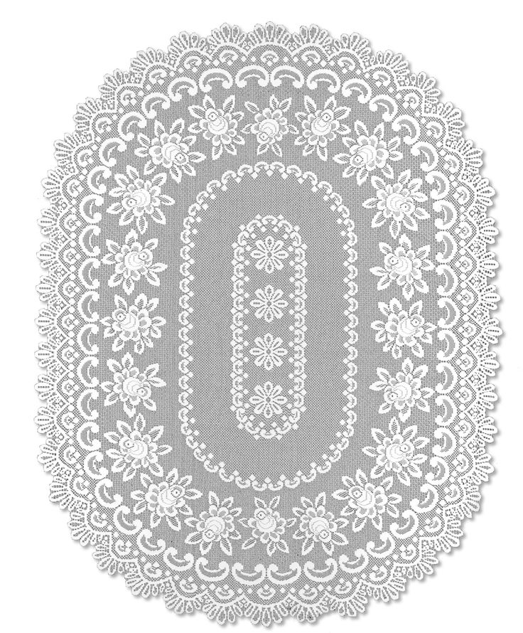 Rose Oval Tablecloth