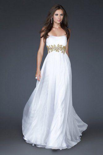 plum wedding dress applique | Home - Evening Dresses - White Evening Dresses - Appliques Strapless ...