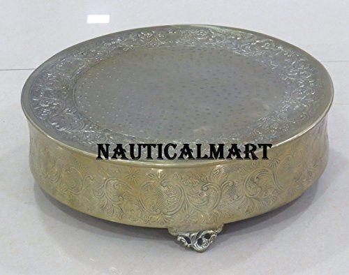 "NauticalMart Golden Cake Stand 20"" Round NauticalMart https://www.amazon.co.uk/dp/B074269VXC/ref=cm_sw_r_pi_dp_x_9xD6zb8JH7544"