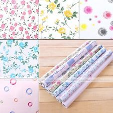 Peony Rose Flower Contact Paper Self Adhesive Drawer Liner Lining Wall  Decal 2m