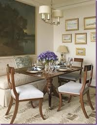 Love the large oil over the banquette