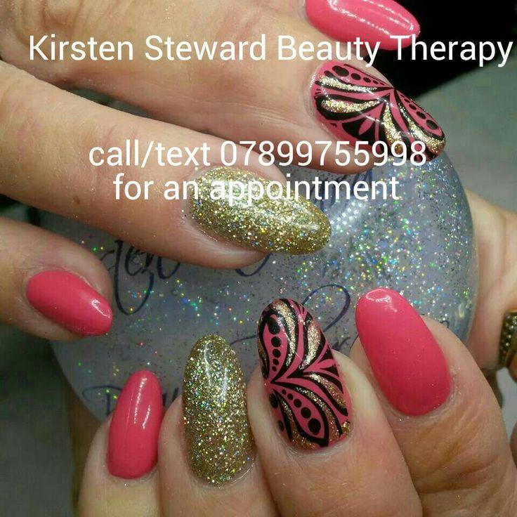 Artistic Colour Gloss Flair, Kirsten Steward Beauty Therapy nail art