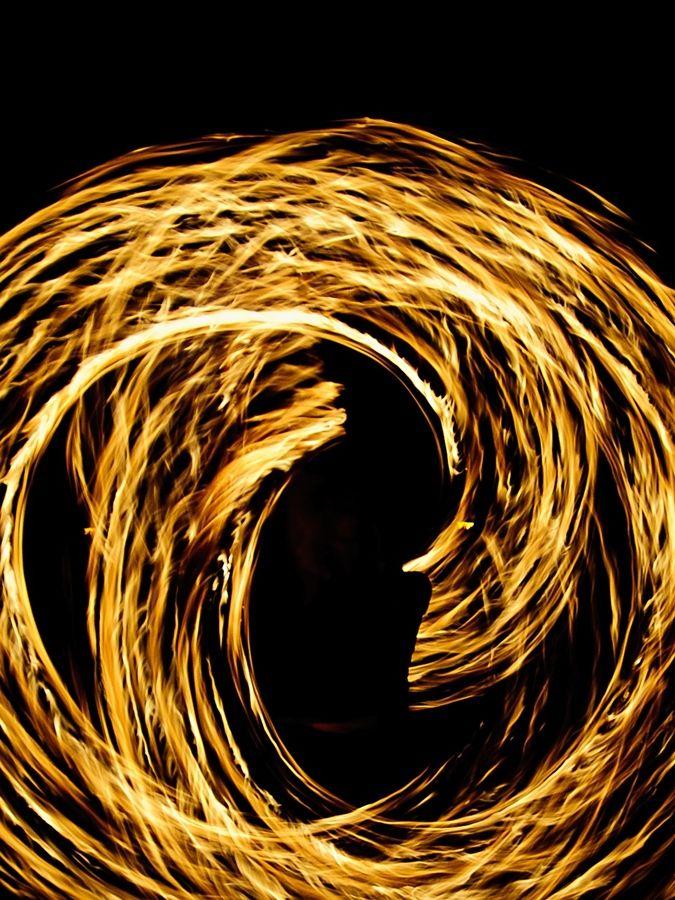 fire spinner poi