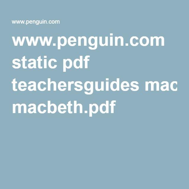www.penguin.com static pdf teachersguides macbeth.pdf