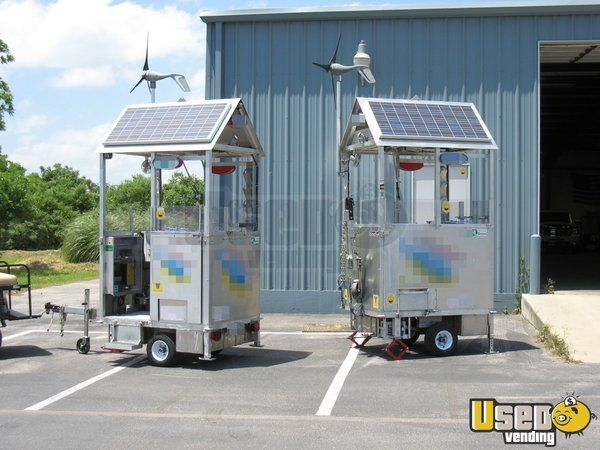 Solar & Wind Powered Self-Sufficient Food Carts for Sale in Illinois - Small…