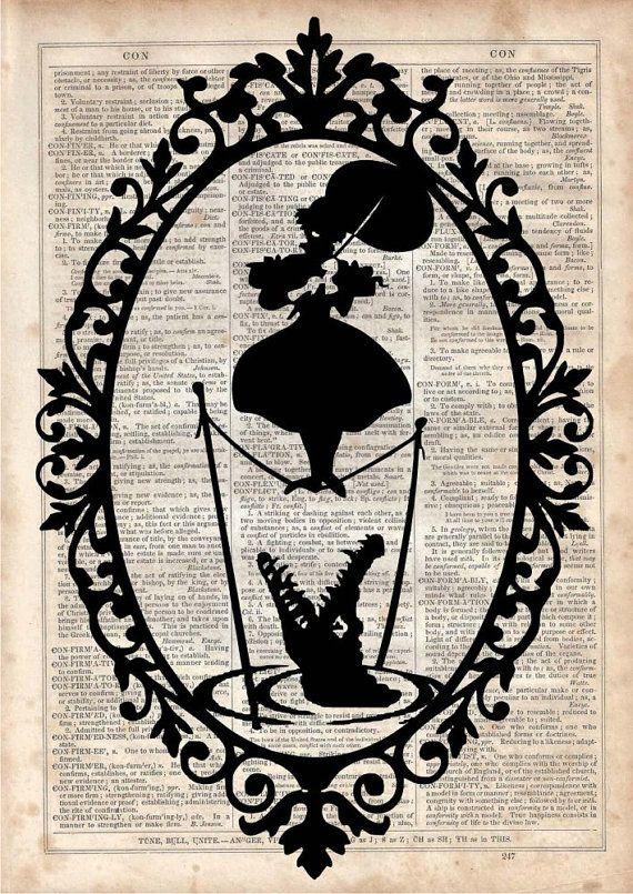 Disney Inspired Corruptible Dictionary Art Print Vintage