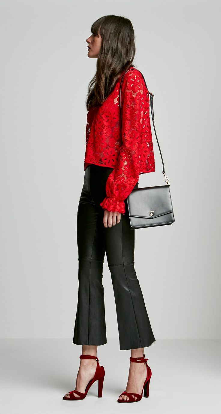 POPPY LACE BLOUSE - Tops | SCANLAN THEODORE