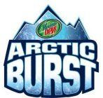 """Mountain Dew Arctic Burst (sometimes mistaken as """"Arctic Blast"""") was a Mountain Dew Slurpee Flavor available at participating 7-Eleven convenience stores. In 2006, Mountain Dew released 2 slurpee flavors of Mountain Dew to promote the release of the film Superman Returns in 2006. One of these flavors was Kryptonite Ice. Another was Arctic Burst. Both flavors were discontinued later that year."""