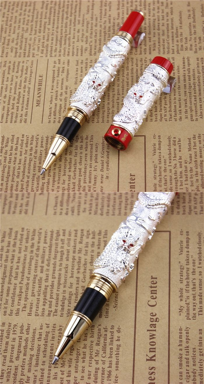 silver jinhao ballpoint pen school office stationery high quality