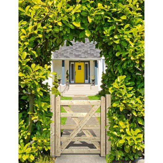 Best 25 portillon bois ideas on pinterest id es de for Barriere de jardin leroy merlin
