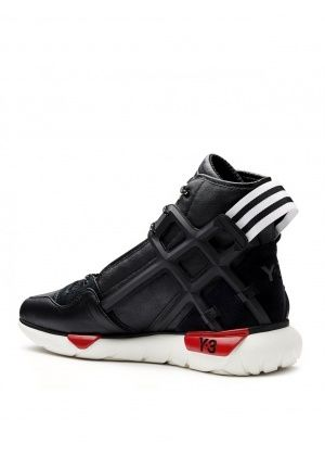 Y-3 QASA B-BALL HIGH TOP TRAINER BLACK #trainers #sneakers #hightop #y-3