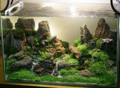 underwater aquarium sand waterfall - Google Search