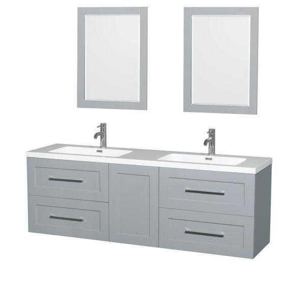 "72"" Olivia Double Bathroom Vanity in Dove Gray"