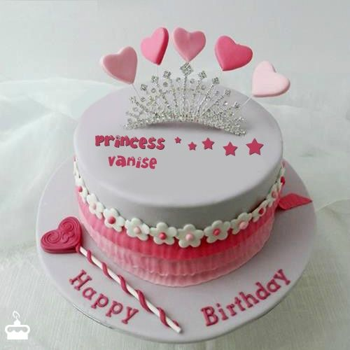 Happy Birthday Vanise - Cake With Name