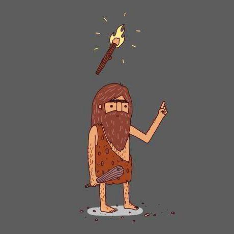 #preistoric #idea #fire #light #creative #humor #evolution #make #lol #illustration #human #darwin #step