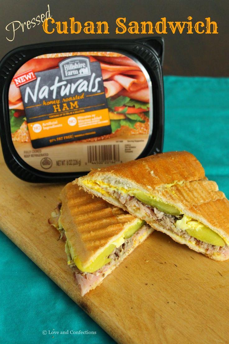Pressed Cuban Sandwich from LoveandConfections.com #HillshireNaturals #spon