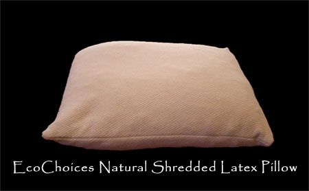 Natural Latex Pillows - shredded latex pillows, molded latex pillows,  contour latex pillows. mush pillow - shredded latex pillow