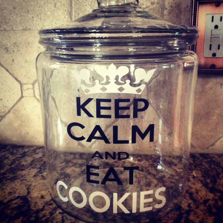 Cookie jar made with glass from amazon and vinyl