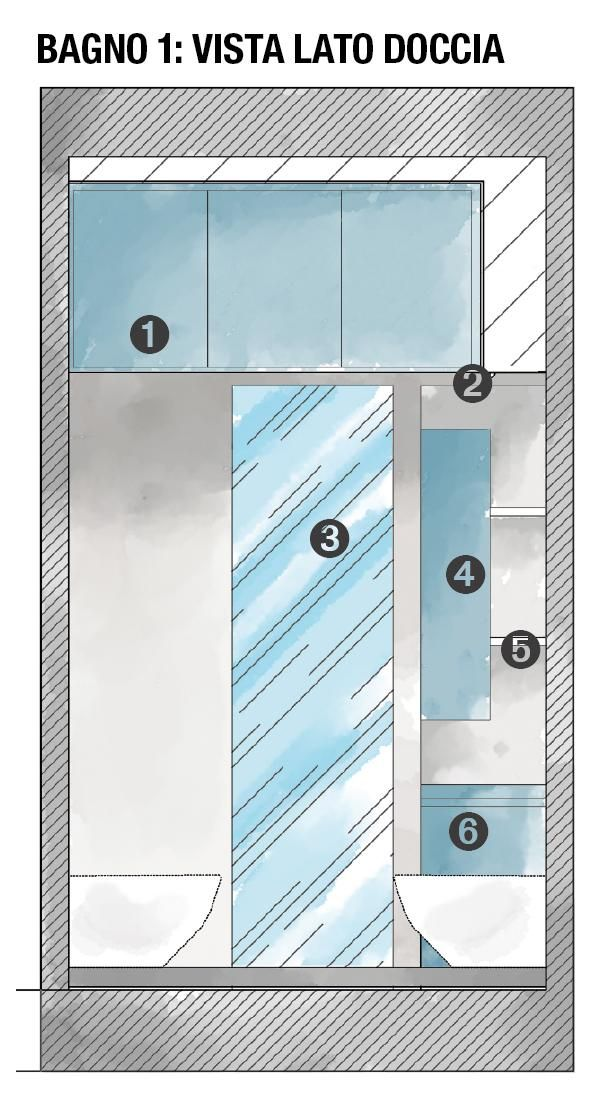 Ricavare Due Bagni Da Uno Con Doccia Passante Progetto E Foto