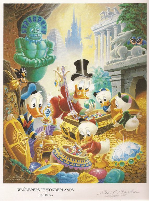 UNCLE SCROOGE McDUCK Celestial Arts Limited Edition 1981 Signed - Numbered 2152 by Artist & Creator Carl Barks. Walt Disney Productions. Many more Carl Barks titles available at QualityComicsAmerica