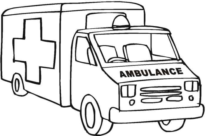 Coloring Pages Ambulance Truck Coloring Pages Monster Truck Coloring Pages Train Coloring Pages