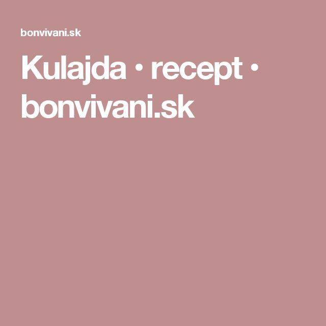 Kulajda • recept • bonvivani.sk