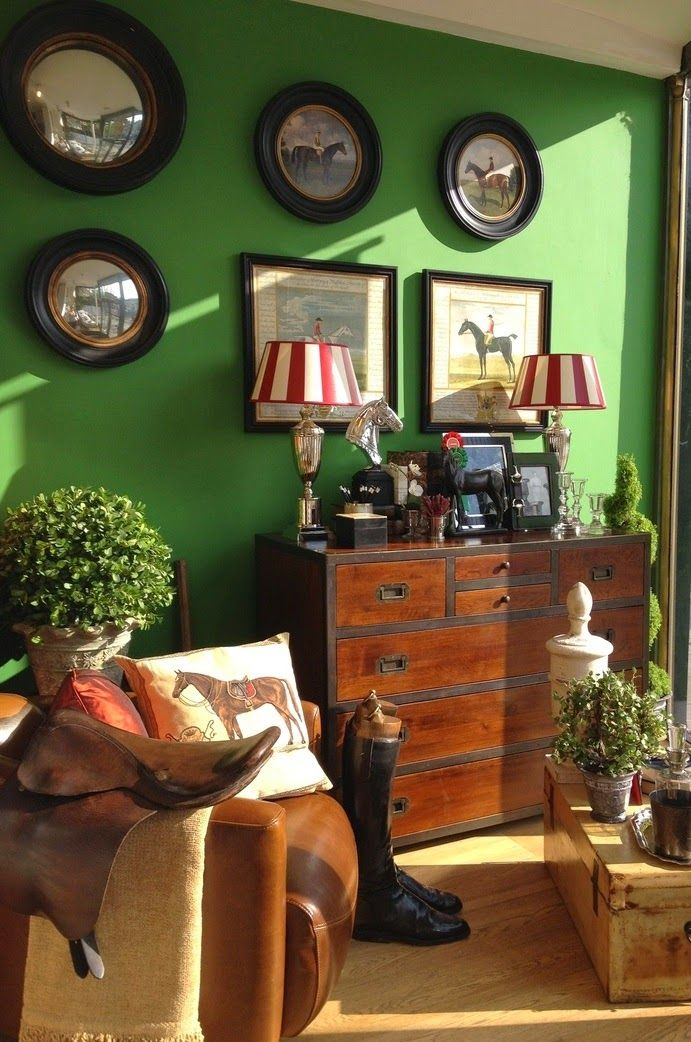 Outstanding blog about Equestrian Chic decorating style...