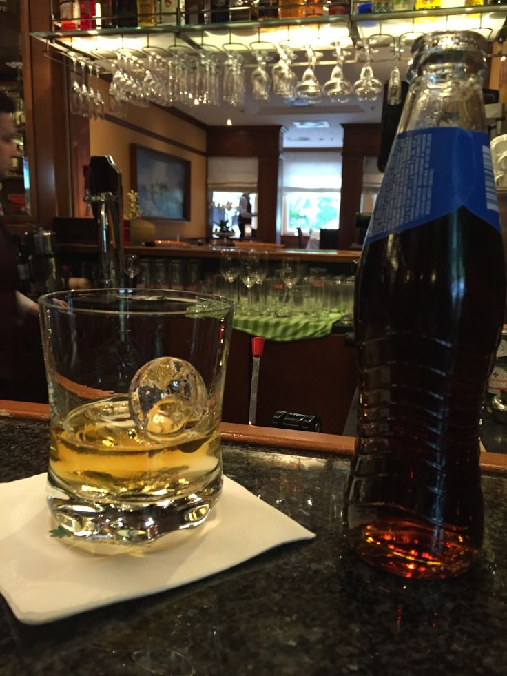 Bourbon and Coke (well - they only had Pepsi). Park Hotel, Szczecin, Poland. May 2016