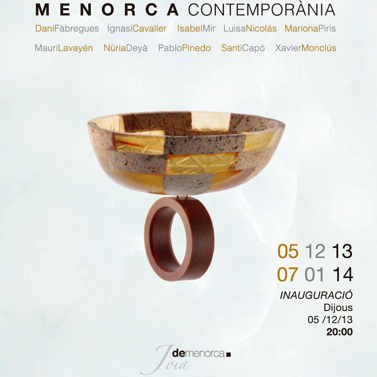 Menorca Contemporània Group exhibition -  Galería Artara, Mahón, Menorca • 05 December 2013 - 07 January 2014 — avec Ignasi Cavaller Triay et Ignasi Cavaller.