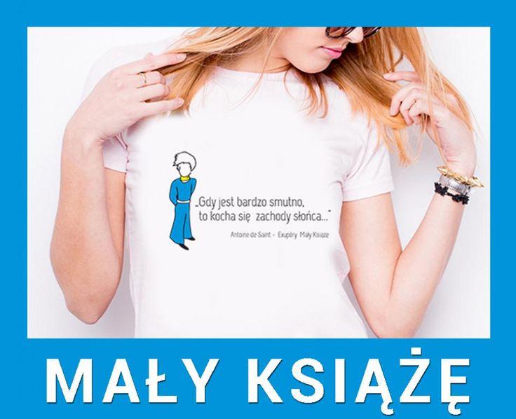 MAŁY KSIĄŻĘ koszulka biała damska T-shirt nadruk S