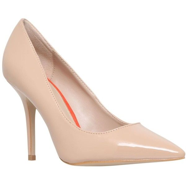 Carvela Abigail High Heeled Stiletto Court Shoes ($76) ❤ liked on Polyvore featuring shoes, pumps, camel patent, stiletto pumps, flat shoes, pointed toe pumps, high heel shoes and high heel stilettos