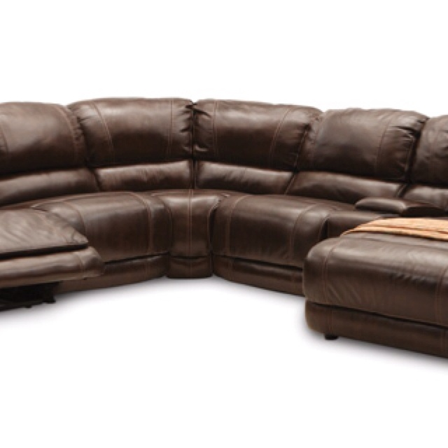 Leather Sectional W Chaise And Recliner Basement Ideas