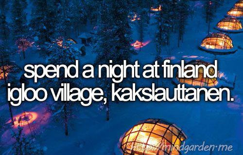 And watch the Northern Lights! #dream #bucketlist #travel #igloo