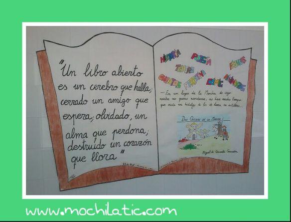 El 23 de Abril celebramos el Día Internacional del Libro. Recursos para trabajarlo