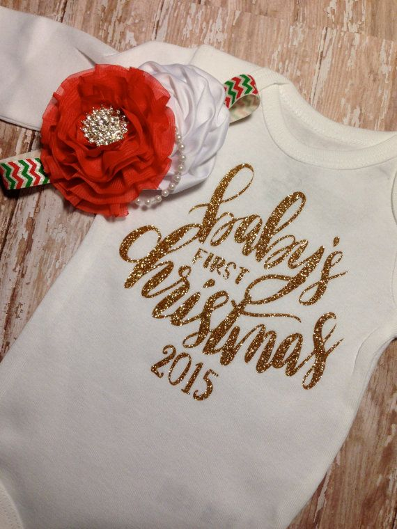 baby girl christmas outfit first christmas by SweetnSparkly