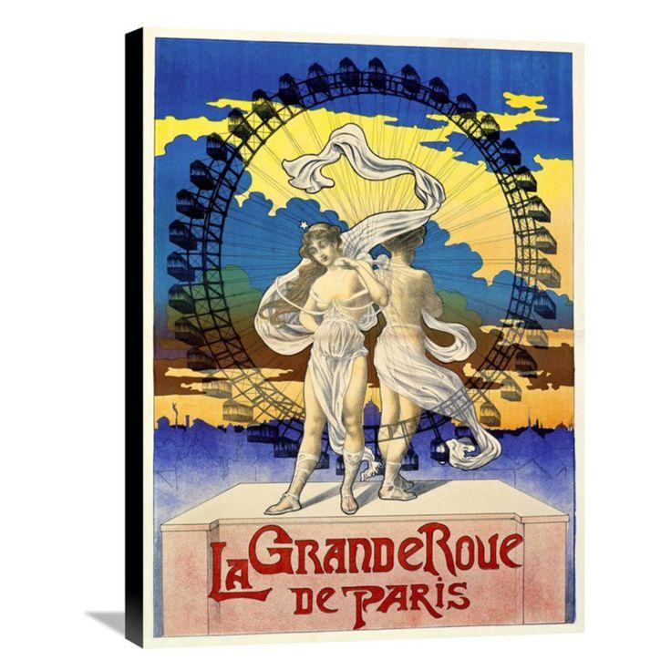 Global Gallery La Grande Roue de Paris Canvas Wall Art - GCS-294638-22-143
