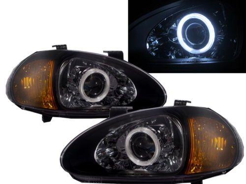 DEL SOL CRX 1993-1997 CCFL BI-XENON Projector Headlamp V1 BLACK for HONDA RHD in Vehicle Parts & Accessories, Car, Truck Parts, Lights, Indicators   eBay
