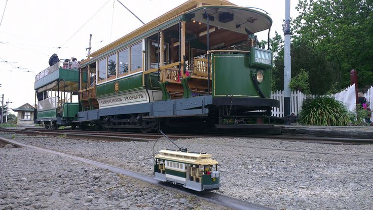 My tram with its inspiration at Ferrymead http://www.flickr.com/photos/42922809@N03/30531452025/