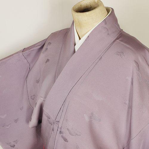 Purple, vintage iromuji kimono /【色無地】リサイクル着物/薄紫色松柄一つ紋付 http://www.rakuten.co.jp/aiyama/