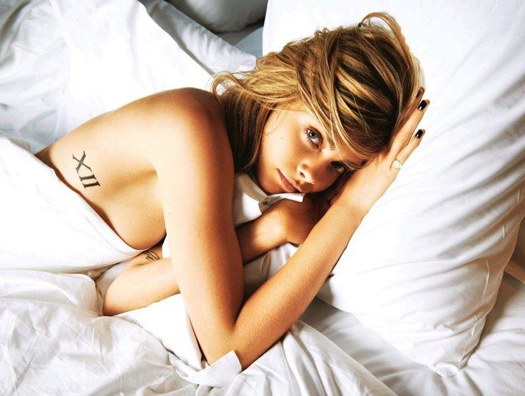 Cara Delevingne in bed