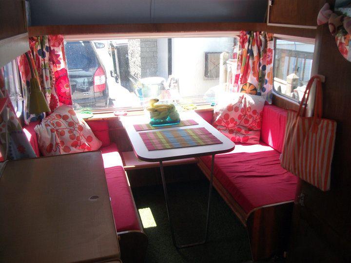Interior of a cool vintage camper.