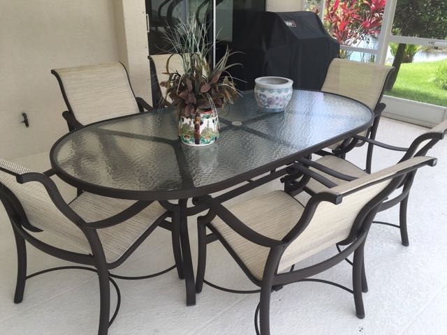 Fabulous Item Of The Week Tropitone Is Based Here In Sarasota And Have Been Making Outdoor Furniture For Homes And Oval Table Dining Outdoor Furniture