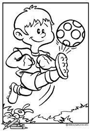 Thema: Voetbal Kleurplaat