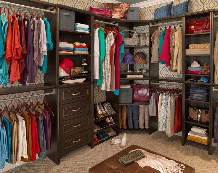 walk in closet organizers tips | Walk-in closet featuring ClosetMaid Impressions in ...