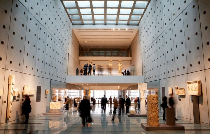 While entering the Acropolis Museum