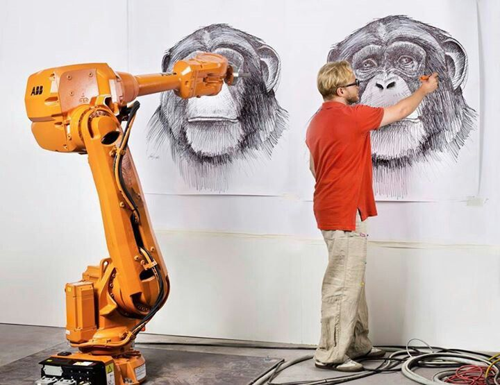 A robot can paint any picture u feed in it | future tech