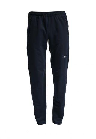 Универсальные спортивные брюки для тренировок на открытом воздухе от Nike. Модель из плотного эластичного материала с уникальной технологией Dri-FIT, которая отводит излишки влаги с поверхности тела спортсмена. Детали: зауженный крой, стандартная посадка, эластичный пояс с внутренним шнурком, два кармана, сетчатые вставки для вентиляции, манжеты на молнии, светоотражающие элементы. Для размера 48/50 - высота посадки 29 см. http://j.mp/1pNnJ1p