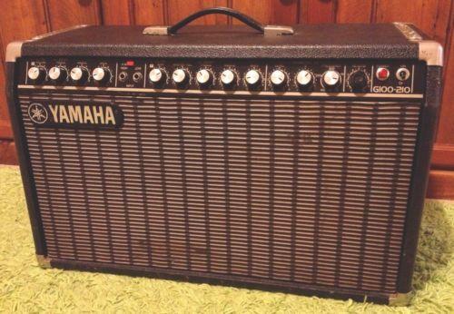 Vintage 80s yamaha g100 210 ii guitar amplifier solid for Yamaha bass guitar amplifier