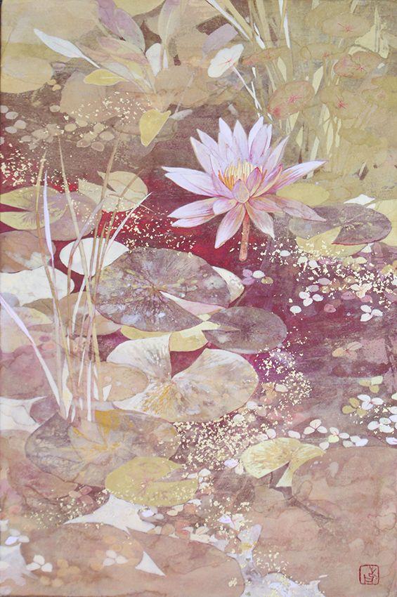 美菜保 林 さんのボード 日本画 2020 花 水彩画 美しい絵画 かっこいい絵画