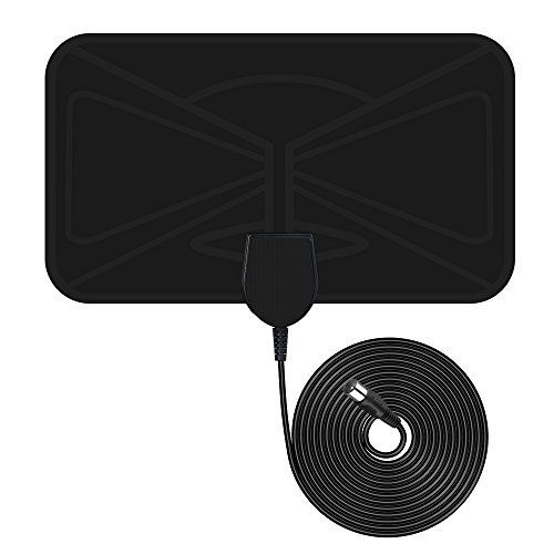 Antenne Numérique HDTV VicTsing Antenne TNT Intérieure Amplifiée Super Mince 25 Miles Plage avec 10ft Câble Coaxial de Haute Performance:…